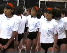 女子中学生のブルマが食込みまくりの運動会!